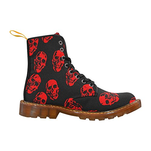 LEINTEREST Hot Skulls,red Martin Boots Fashion Shoes For Men