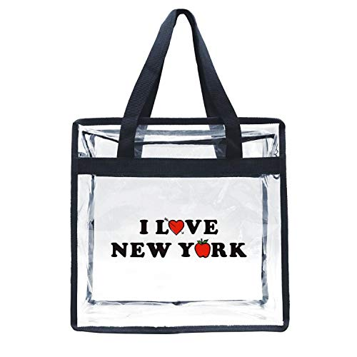 Eoyles gy Clear Bag Stadium Approved 12 X 6 X 12 Crossbody Transparent Purse Shoulder Handbag for Men Women I Love New York City Zippered Security Bag