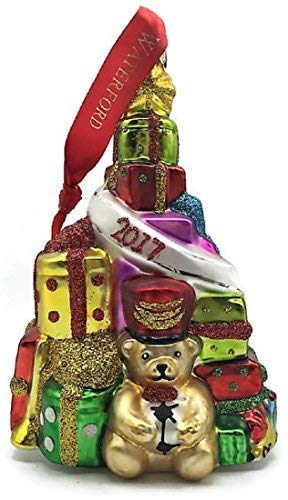 (Waterford 2017 Tree Ornament Teddy Bear and Presents)