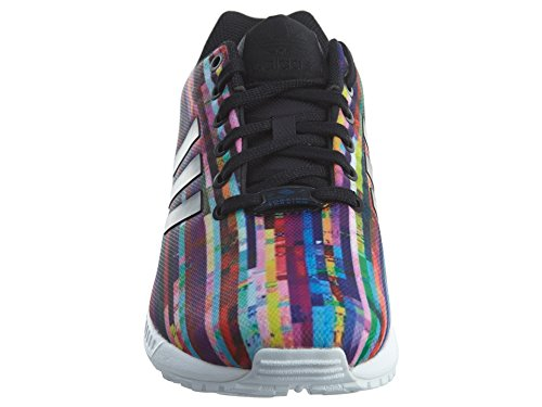 adidas Originals Men's ZX Flux Fashion Sneaker, White/Black/Blue Bird, 7.5 M US