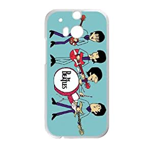 the beatles cartoon 2 HTC One M8 Cell Phone Case White Customized Toy pxf005-7812807