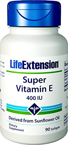 Life Extension Super Vitamin E 400 IU, 90 Softgel