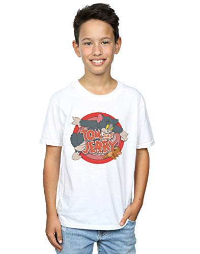 Tom And Jerry Boys Classic Catch T-Shirt 7-8 Years White