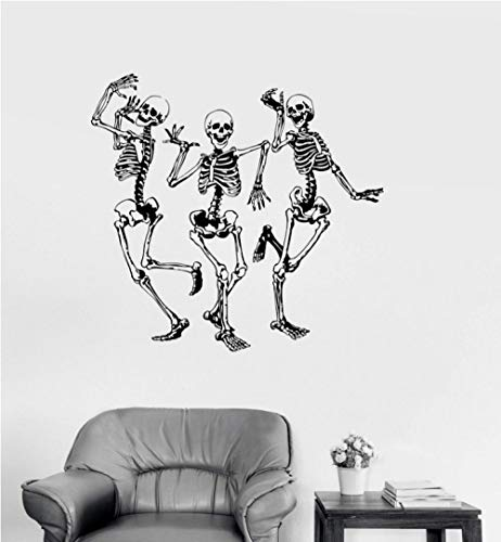 huaxiazu Street Dance Sticker Vinyl Wall Decal Funny Dance Bones Halloween Sticker, Fashion Home Decor Living Room 60 X 57cm