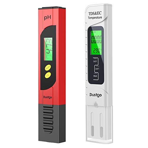 🥇 Dustgo Medidor pH Medidor de PH con Medidor TDS EC Temperatura 4 en 1 Digital