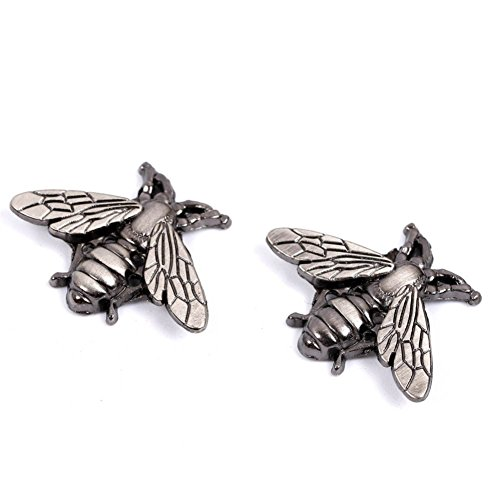 (LFOEwpp7 Cufflinks, 2 Pcs Vintage Metallic Carving Bees Cufflinks Suits Shirt Cuff Jewelry Decor Silver)