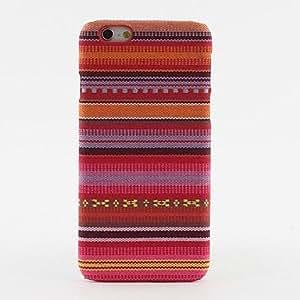 MOFY- caja roja azteca patr—n tribal textil protector duro para el iphone 6