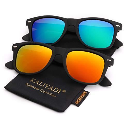 Unisex Polarized Sunglasses Stylish Sun Glasses for Men and Women | Color Mirror Lens | Multi Pack Options from KALIYADI