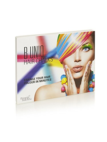 B Uniq Non-Toxic Temporary Hair Chalks Set - Halloween, Fancy Dress Up, Performance Costumes: Create A Funky Look for Children and Teens - 24-Pack Temporary Hair Chalks ()