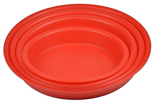 10.6'' Round Plant Saucer Planter Tray Pat Pallet for Flowerpot,Red,660 Count by Zhanwang