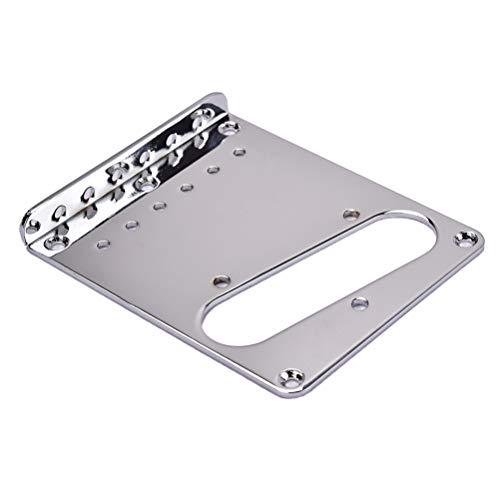 Loading Bridge (Healifty Top-Loading Guitar Bridge Plate Chrome for Fender Telecaster TL 6 String Electric Guitar Pickup 98x80x11mm (Silver))