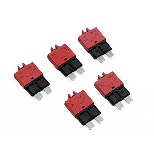 T Tocas Manual Reset Low Profile ATC Circuit Breakers 12V - 28V DC (10A)