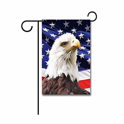 KafePross Bald Eagle with American Flag Garden Flags 12.5