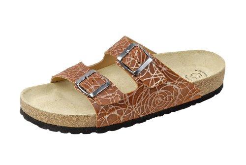 Wörishofer Bio-Pantolette 41110 - Zapatos con hebilla de cuero unisex terra
