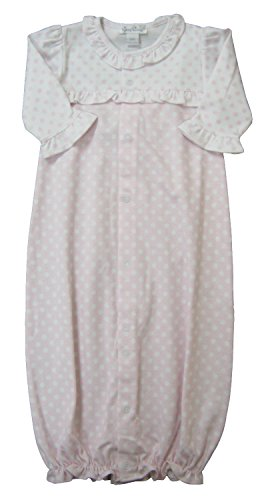 Kissy Kissy Baby-Girls Infant Delectable Dots Print Convertible Gown-Pink-Small