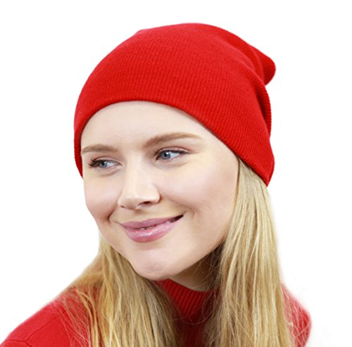 The Hat Depot Made In USA Skull Beanie Hat (Red) (Dwarf Hats)