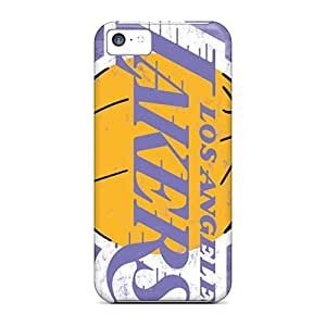Phonedecor Iphone 5c Hybrid Tpu Case Cover Silicon Bumper Los Angeles Lakers