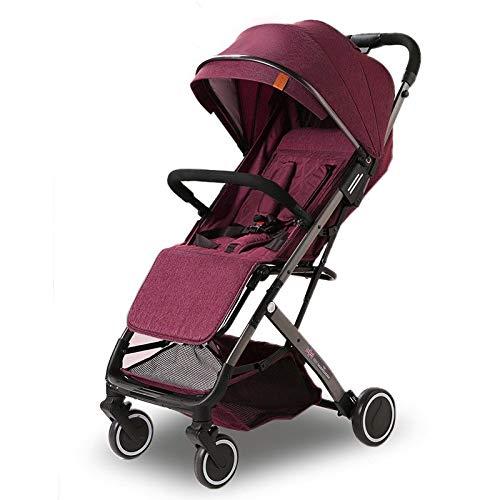 LQRYJDZ Cochecito de bebé for niños pequeños: cochecito plegable ...