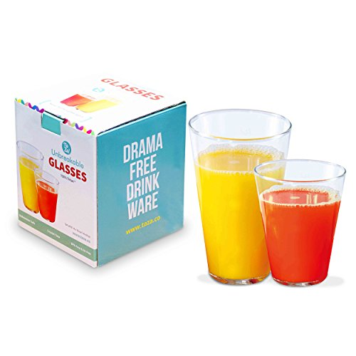 8 pc Unbreakable Stackable Clear Tumblers | 100% Tritan Dishwasher-safe, shatterproof plastic | Smooth Rims | Set of 8 (4-12 oz & 4-16 oz)