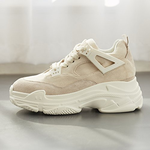 Beige Thirty-seven GUNAINDMX  chaussures Sports Décontracté chaussures chaussures nouveau All-Match .