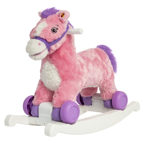 One of the top baby toys for Christmas is the Rockin' Rider Candy 2-in-1 Pony Ride-On