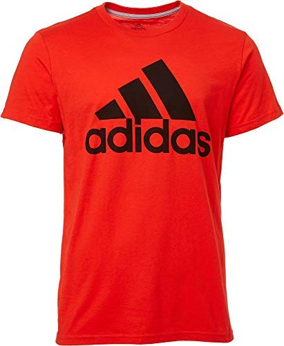 adidas Men's Badge of Sport Classic T-Shirt - Active Red/Black, Large
