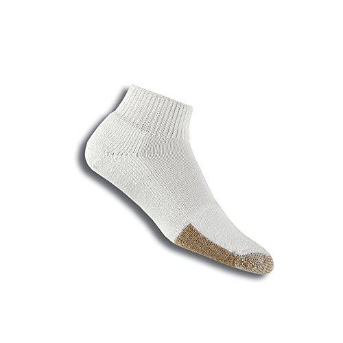 Thorlos Unisex TMX Tennis Thick Padded Ankle Sock, White, (Thick Cushion Tennis Socks)