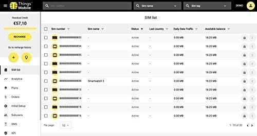 Pack de 100 tarjetas SIM Things Mobile de Prepago para IOT y M2M ...