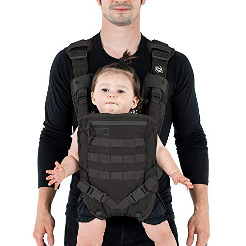 Men's Baby Carrier - Front -for Dads - by Mission Critical - Black ()