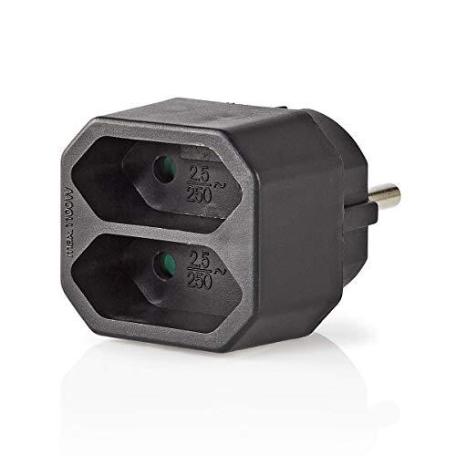 230 V schwarz Schwabe 48212 Eurostecker 2-Fach as
