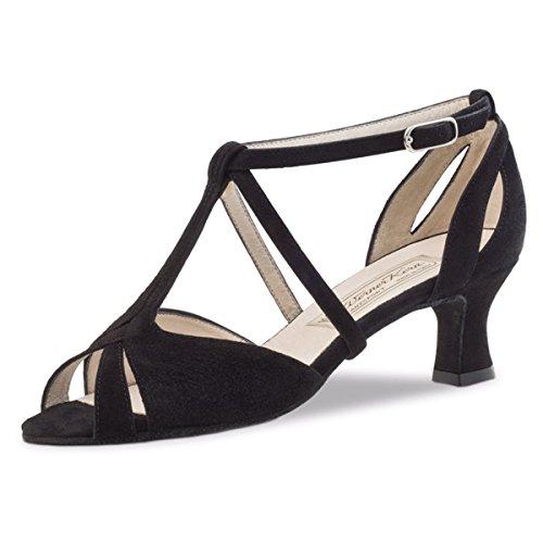 Werner Kern–Zapatos de baile para mujer Francis 5,5 negro (piel)
