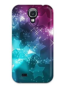 New EcKaPEa6010ovkPM Pretty Glittery Stars Skin Case Cover Shatterproof Case For Galaxy S4 by mcsharks