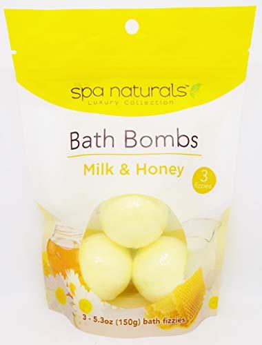 Spa Naturals Milk & Honey Bath Bombs