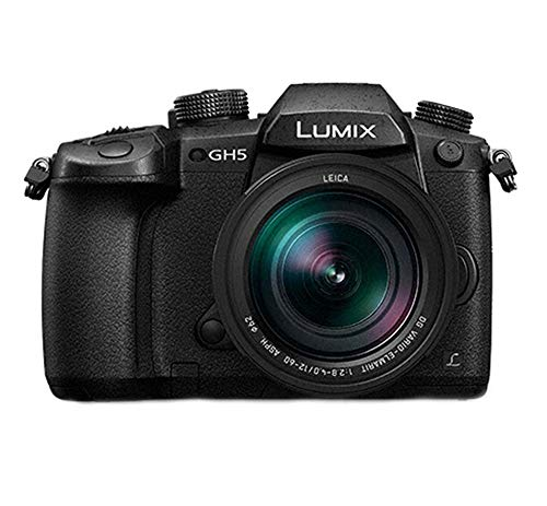 Panasonic LUMIX GH5 4K Mirrorless Camera w/Lecia 12-60mm (DC-GH5LK) w/ 64GB UHS-II + VideoMic Go + Havana Bag