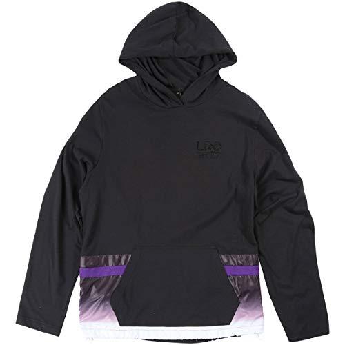 (LRG Men's Cross Fleece Hoody,Medium,Black)