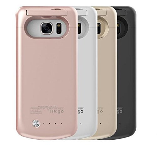 Cover batteria S7 edge Rosa da 3600 mAh - Power Bank S7 edge - Backup Battery Charger Case for S7 edge - Cover con batteria integrata per S7 edge