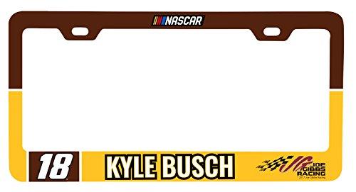 NASCAR #18 Kyle Busch License Plate Frame-NASCAR License Plate Holder