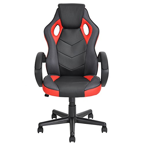 414OjkmBhpL - Racing-Chair-FurnitureR-Gaming-Chair-Ergonomic-Executive-Swivel-Leather-Office-Chair-Racing-Style-Task-Gaming-Chair-High-back-Computer-Support-Chair-Red