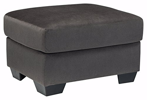 Ashley Furniture Signature Design - Kinlock Comfortable Ottoman & Footrest - Polyester Upholstery - Contemporary - Charcoal
