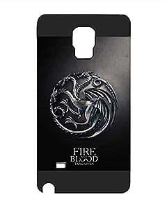 Game of Thrones Logo Galaxy Note 4 Funda Case, TV Series Cartoon Anime Theme [Shock Absorbent] Hardshell Funda Case for Samsung Galaxy Note 4