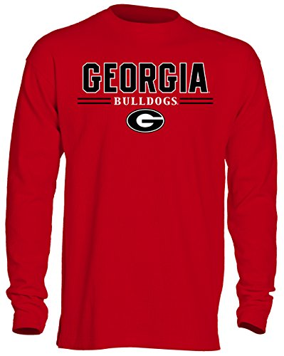 NCAA Georgia Bulldogs Men's OVB Long Sleeve Thermal Shirt, Small, (Georgia Bulldogs Ncaa Thermal)