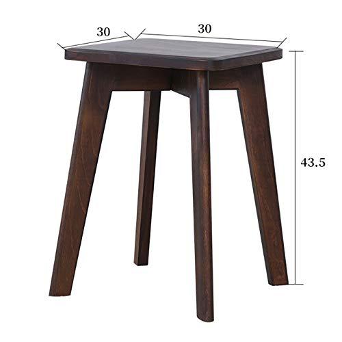 OLI Stool, Anti-Slip Wood Stacking Stool, Wood Support Footstool,Makeup Vanity Stool, Modern Luxury Dressing Stool,Stool Wooden 4Legs,A,2543.5Cm ()