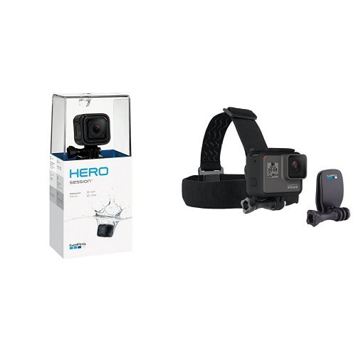 GoPro HERO Session w/ Headstrap + Quick Clip