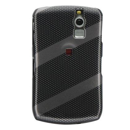 Black Diagonal Carbon Fiber Snap on Hard Skin Cover Case for Blackberry Curve 8300 8310 8330 + Belt (8300 Carbon Fiber)