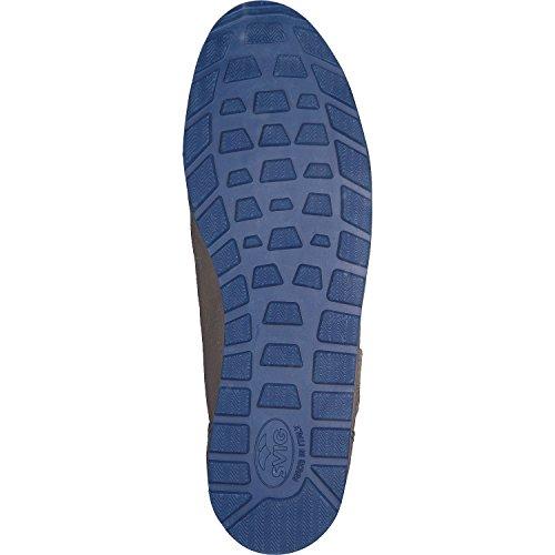 Hebold A Mano Sneaker Calzaturiera Oxford Grigio - Scarpa È A Richiesta / Formato Su Grigio Chiaro / Blu