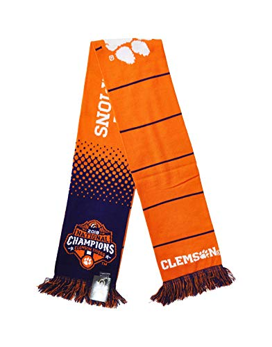 Official 2018 Clemson National Champions Knitted Scarf