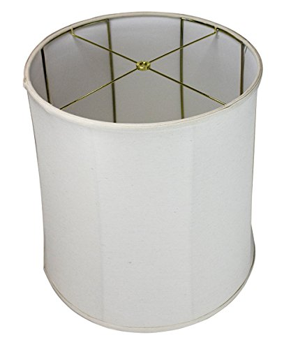 "HomeConcept 161818DRLO Collapsible Drum Lampshade Premium Light Oatmeal Linen, 16"" x 18"" x 18"""