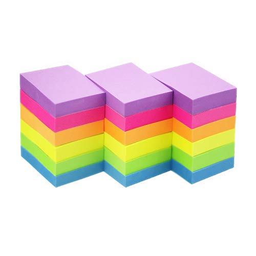 Early Buy Sticky Notes 1.5 x 2 Self-Stick Notes 6 Bright Color 18 Pads, 100 Sheets/Pad (6 - Small Notes Stick