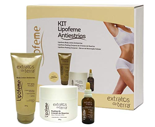 LIPOFEME KIT ANTI ESTRIAS EXTRATOS DA TERRA