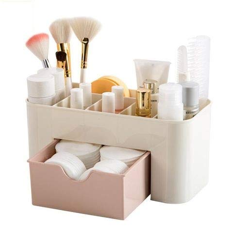 Zollyss Plastic Mini Makeup Storage and Organizer (Multicolour) – (Pack of 1)